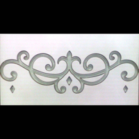 Tile Glass Inlay